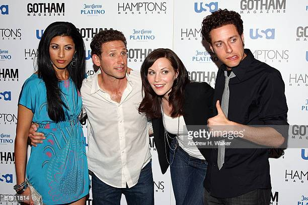 Actors Reshma Shetty Mark Feuerstein Jill Flint and Paulo Costanzo attend Hamptons and Gotham Magazine's summer celebration with the cast of 'Royal...