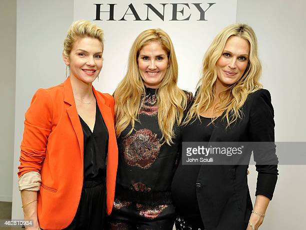 Actors Rhea Seehorn Designer Mary Alice Haney and Molly Sims attend the Mary Alice Haney private event at Saks Fifth Avenue Beverly Hills on February...