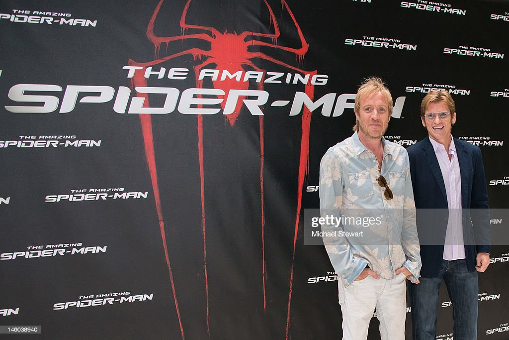 Actors <a gi-track='captionPersonalityLinkClicked' href=/galleries/search?phrase=Rhys+Ifans&family=editorial&specificpeople=204530 ng-click='$event.stopPropagation()'>Rhys Ifans</a> (L) and <a gi-track='captionPersonalityLinkClicked' href=/galleries/search?phrase=Denis+Leary&family=editorial&specificpeople=204773 ng-click='$event.stopPropagation()'>Denis Leary</a> attend the 'The Amazing Spider-Man' New York City Photo Call at Crosby Street Hotel on June 9, 2012 in New York City.