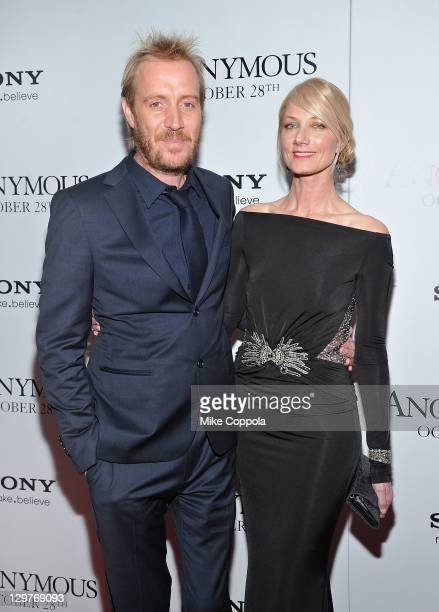 Actors Rhys Ifans and Joely Richardson attend the 'Anonymous' screening at the The Museum of Modern Art on October 20 2011 in New York City