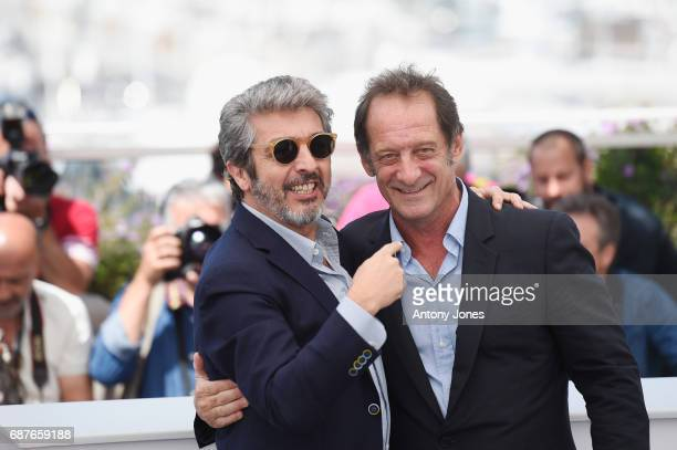 Actors Ricardo Darin and Vincent Lindon attend the 'Rodin' photocall during the 70th annual Cannes Film Festival at Palais des Festivals on May 24...