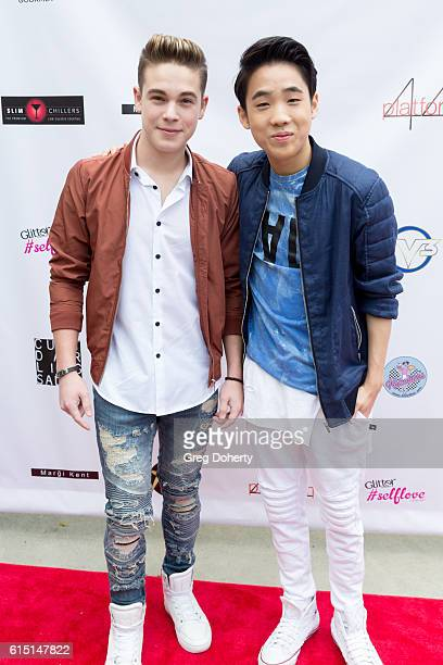 Actors Ricardo Hurtado and Lance Lim arrive for the Breaking The Chains Foundation And Glitter Magazine First Annual Fall Reception at a private...