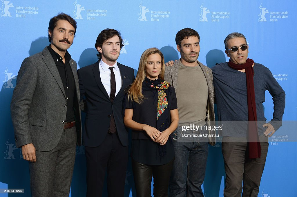 Director Ivo Ferreira, actor Miguel Nunes, actress Margarida Vila-Nova, actor Ricardo Pereira and producer Luis Urbano attend the 'Letters from War' (Cartas da guerra) photo call during the 66th Berlinale International Film Festival Berlin at Grand Hyatt Hotel on February 14, 2016 in Berlin, Germany.