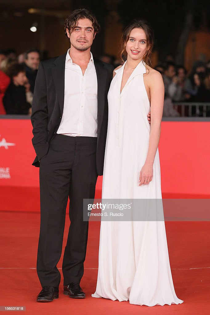 Actors <a gi-track='captionPersonalityLinkClicked' href=/galleries/search?phrase=Riccardo+Scamarcio&family=editorial&specificpeople=816804 ng-click='$event.stopPropagation()'>Riccardo Scamarcio</a> and Clara Ponsot attend the 'Cosimo E Nicole' Premiere during the 7th Rome Film Festival at Auditorium Parco Della Musica on November 16, 2012 in Rome, Italy.