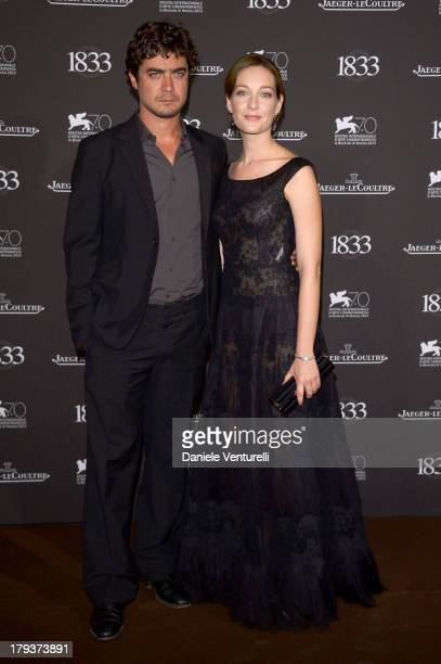 Actors Riccardo Scamarcio and Cristiana Capotondi attend JaegerLeCoultre Gala Dinner Celebrating Its 180th Anniversary At Teatro La Fenice In Venice...