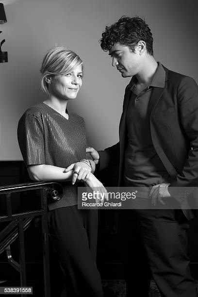 Actors Riccardo Scamarcio and Marina Fois are photographed for Self Assignment on May 19 2016 in Cannes France