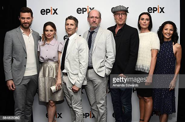 Actors Richard Armitage Mina Tander Leland Orser Richard Jenkins Rhys Ifans Michelle Forbes and Tamlyn Tomita attend EPIX's Television Critics...