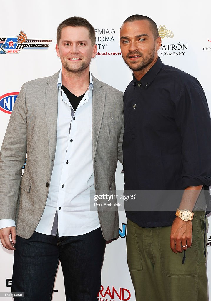 Actors Richard Blake (L) and <a gi-track='captionPersonalityLinkClicked' href=/galleries/search?phrase=Jesse+Williams+-+Actor&family=editorial&specificpeople=7189838 ng-click='$event.stopPropagation()'>Jesse Williams</a> (R) attend the premiere of 'Snake & Mongoo$e' at the Egyptian Theatre on August 26, 2013 in Hollywood, California.