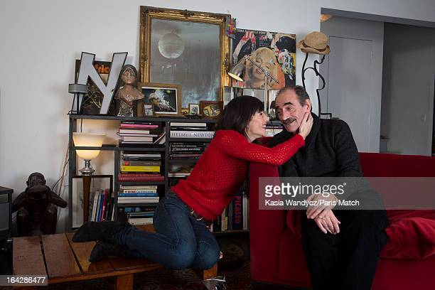 Actors Richard Bohringer and daughter Romane Bohringer are photographed for Paris Match on February 25 2012 in Paris France