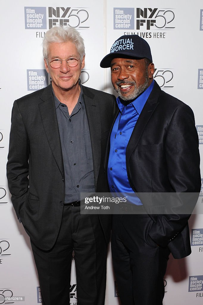 Actors Richard Gere and Ben Vereen attend the 'Time Out Of Mind' premiere during the 52nd New York Film Festival at Alice Tully Hall on October 5...