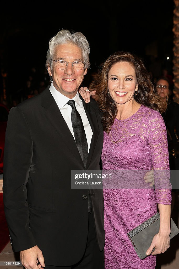 Actors Richard Gere (L) and Diane Lane arrive in style with Mercedes-Benz at the Palm Springs International Film Festival at the Palm Springs Convention Center on January 5, 2013 in Palm Springs, California.