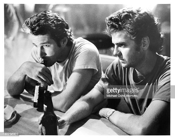 Actors Richard Gere and Kevin Anderson on set for the 'Miles From Home' in 1988