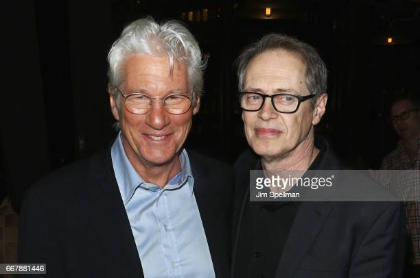 Actors Richard Gere and Steve Buscemi attend the screening after party of Sony Pictures Classics' 'Norman' hosted by The Cinema Society with NARS...