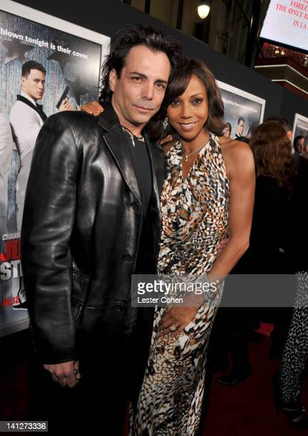 Actors Richard Grieco and Holly Robinson Peete arrive at the Los Angeles premiere of '21 Jump Street' at Grauman's Chinese Theatre on March 13 2012...
