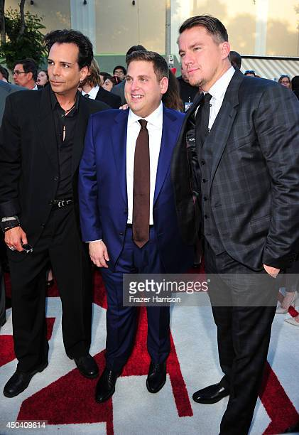 Actors Richard Grieco Jonah Hill and Channing Tatum attend the Premiere Of Columbia Pictures' '22 Jump Street' at Regency Village Theatre on June 10...