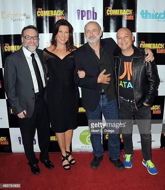 Actors Richard Horvitz Melissa Disney Dean Cameron and Keith Coogan arrive for 'The Comeback Kids' Los Angeles Special Screening held at Landmark...