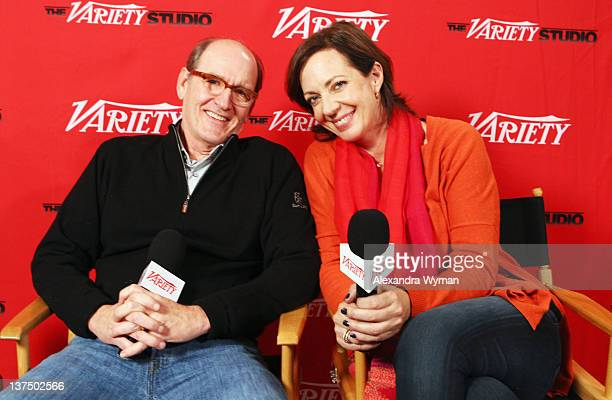 Actors Richard Jenkins and Allison Janney attend day 1 of The Variety Studio at The 2012 Sundance Film Festival at Variety Studio on January 21 2012...