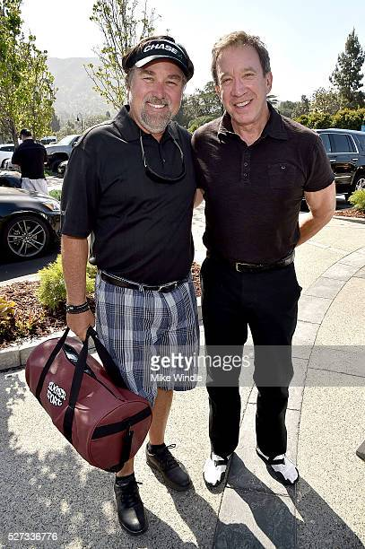 Actors Richard Karn and Tim Allen attend the 9th Annual George Lopez Celebrity Golf Classic to benefit The George Lopez Foundation at Lakeside Golf...