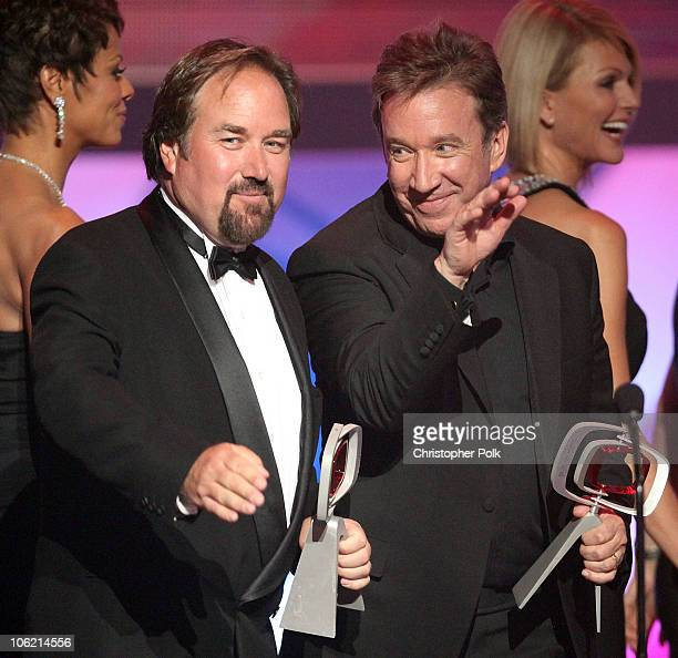 Actors Richard Karn and Tim Allen speak onstage during the 7th Annual TV Land Awards held at Gibson Amphitheatre on April 19 2009 in Universal City...