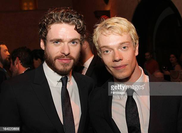 Actors Richard Madden and Alfie Allen attend the after party for 'Game Of Thrones' Los Angeles Premiere presented by HBO at Hollywood Roosevelt Hotel...