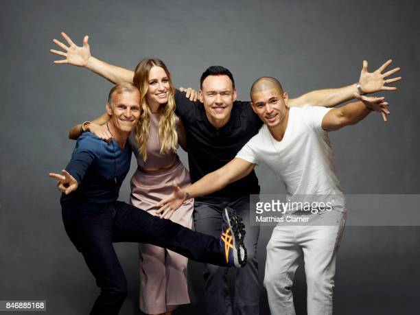 Actors Richard Sammel Ruta Gedmintas Kevin Durand and Miguel Gomez from 'The Strain' are photographed for Entertainment Weekly Magazine on July 21...