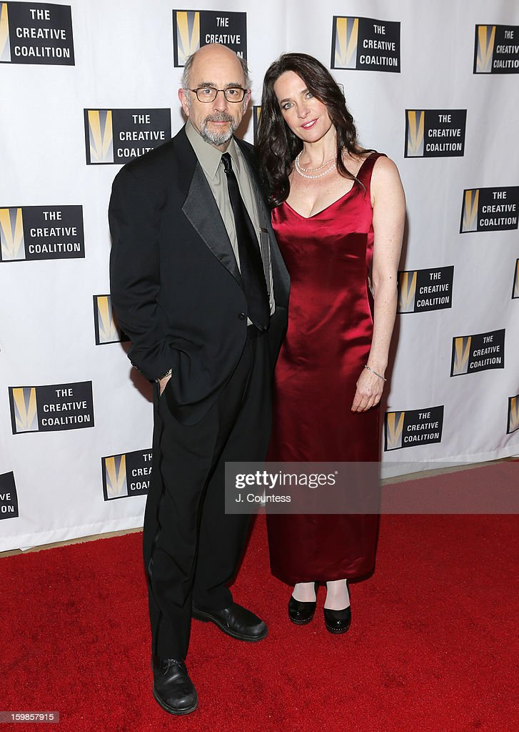 Actors <a gi-track='captionPersonalityLinkClicked' href=/galleries/search?phrase=Richard+Schiff&family=editorial&specificpeople=224824 ng-click='$event.stopPropagation()'>Richard Schiff</a> and <a gi-track='captionPersonalityLinkClicked' href=/galleries/search?phrase=Sheila+Kelley&family=editorial&specificpeople=668100 ng-click='$event.stopPropagation()'>Sheila Kelley</a> attend The Creative Coalition's 2013 Inaugural Ball at the Harman Center for the Arts on January 21, 2013 in Washington, United States.