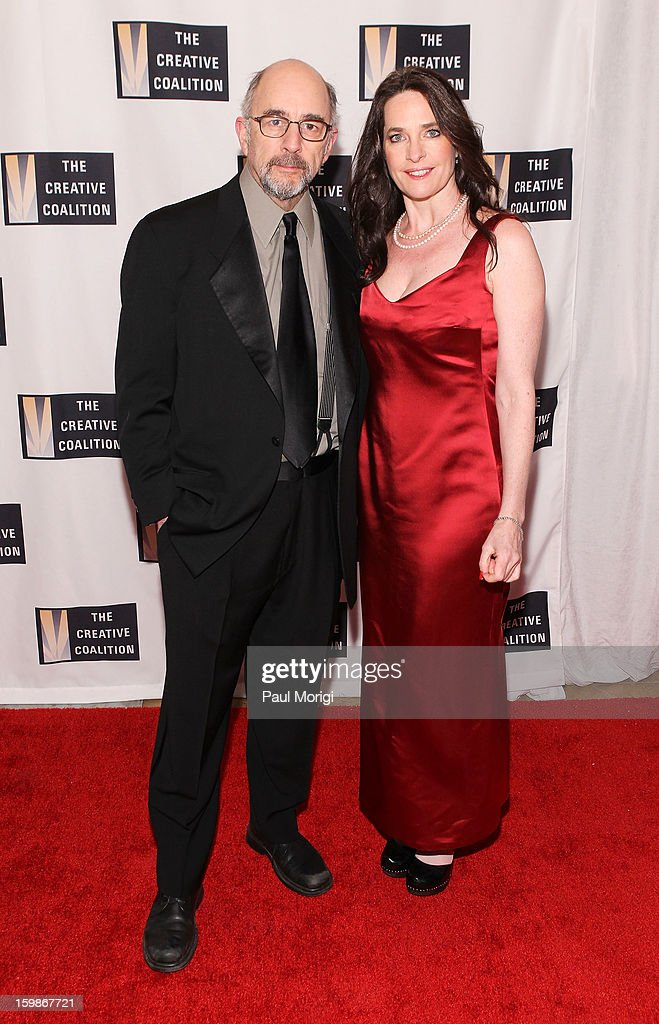 Actors Richard Schiff and Sheila Kelley attend The Creative Coalition's 2013 Inaugural Ball on January 21, 2013 in Washington, United States.