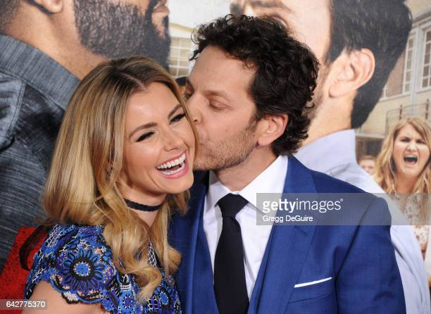 Actors Richie Keen and Brianna Brown arrive at the premiere of Warner Bros Pictures' 'Fist Fight' at Regency Village Theatre on February 13 2017 in...