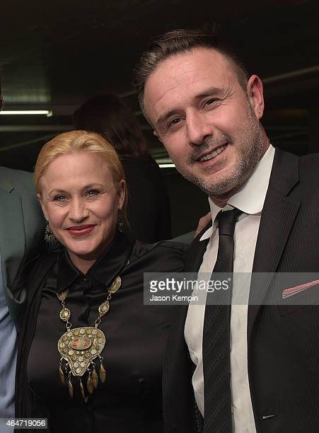 Actors Richmond Arquette Patricia Arquette and David Arquette attend NYLON Magazine's Spring Fashion Issue Celebration hosted by Rita Ora at Blind...