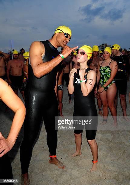Actors Rick Fox and Eliza Dushku attends the Third Annual Nautica South Beach Triathlon on April 11 2010 in Miami Beach Florida