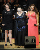Actors Ricki Lake Marissa Jaret Winokur and Nikki Blonsky perform during The New York Pops 31st Birthday Gala at Carnegie Hall on April 28 2014 in...