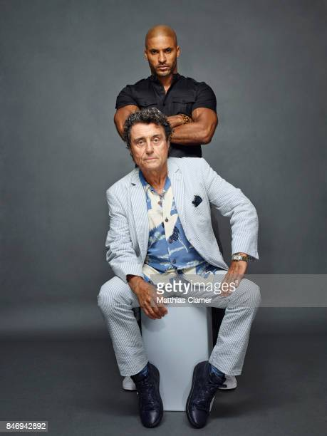 Actors Ricky Whittle and Ian McShane from 'American Gods' are photographed for Entertainment Weekly Magazine on July 22 2016 at Comic Con in the Hard...