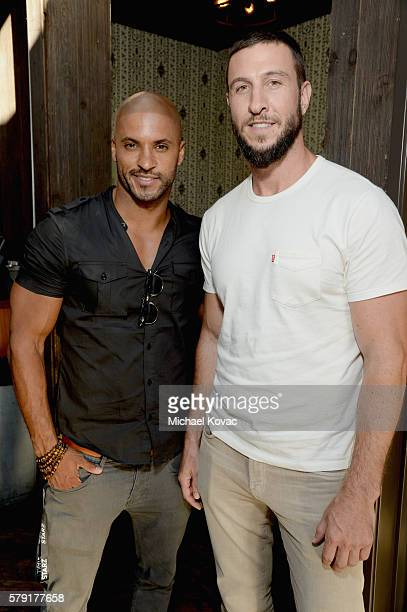 Actors Ricky Whittle and Pablo Schreiber attend the STARZ San Diego ComicCon Cocktail Party on July 22 2016 in San Diego California