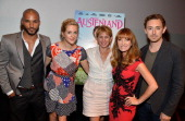 Actors Ricky Whittle Georgia King Founder/CEO of TheWrap Sharon Waxman Jane Seymour JJ Field attend TheWrap's Indie Series Screening of 'Austenland'...
