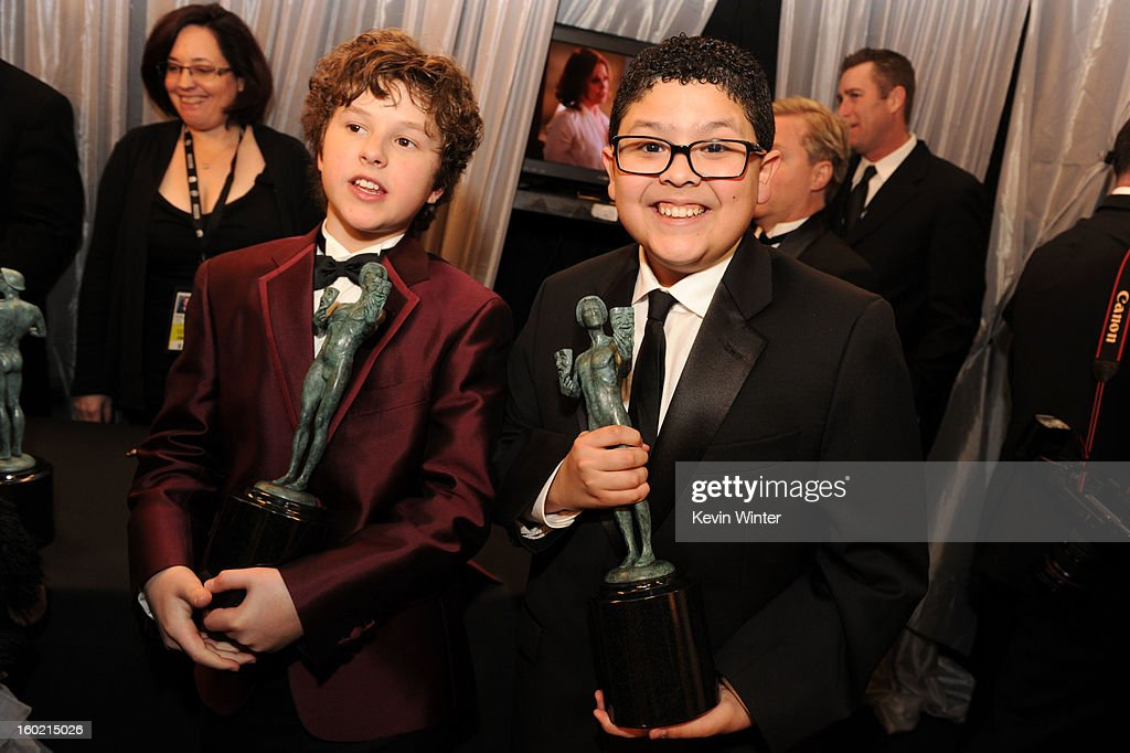 Actors Rico Rodriguez and Nolan Gould attend the 19th Annual Screen Actors Guild Awards at The Shrine Auditorium on January 27, 2013 in Los Angeles, California. (Photo by Kevin Winter/WireImage) 23116_017_1532.JPG
