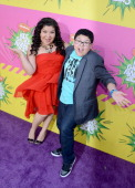 Actors Rico Rodriguez and Raini Rodriguez arrive at Nickelodeon's 26th Annual Kids' Choice Awards at USC Galen Center on March 23 2013 in Los Angeles...