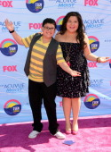Actors Rico Rodriguez and Raini Rodriguez arrive at the 2012 Teen Choice Awards at Gibson Amphitheatre on July 22 2012 in Universal City California