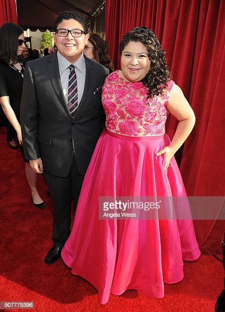 Actors Rico Rodriguez and Raini Rodriguez attend the 22nd Annual Screen Actors Guild Awards at The Shrine Auditorium on January 30 2016 in Los...