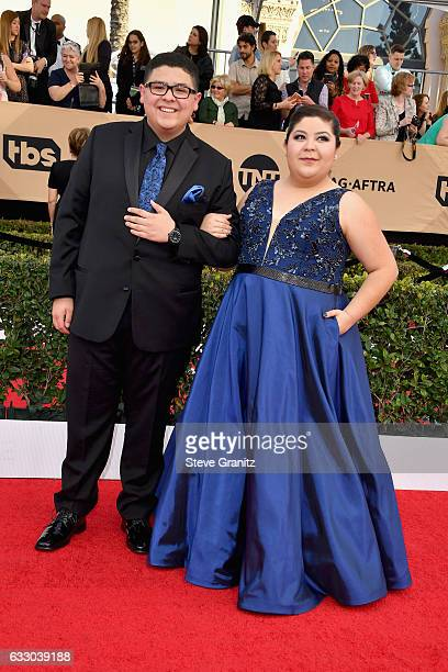 Actors Rico Rodriguez and Raini Rodriguez attend the 23rd Annual Screen Actors Guild Awards at The Shrine Expo Hall on January 29 2017 in Los Angeles...
