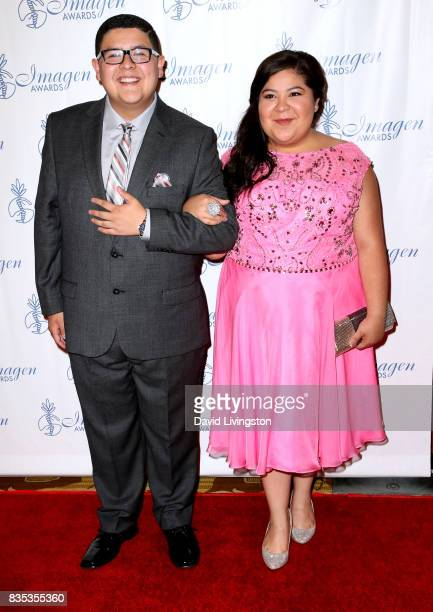 Actors Rico Rodriguez and Raini Rodriguez attend the 32nd Annual Imagen Awards at the Beverly Wilshire Four Seasons Hotel on August 18 2017 in...