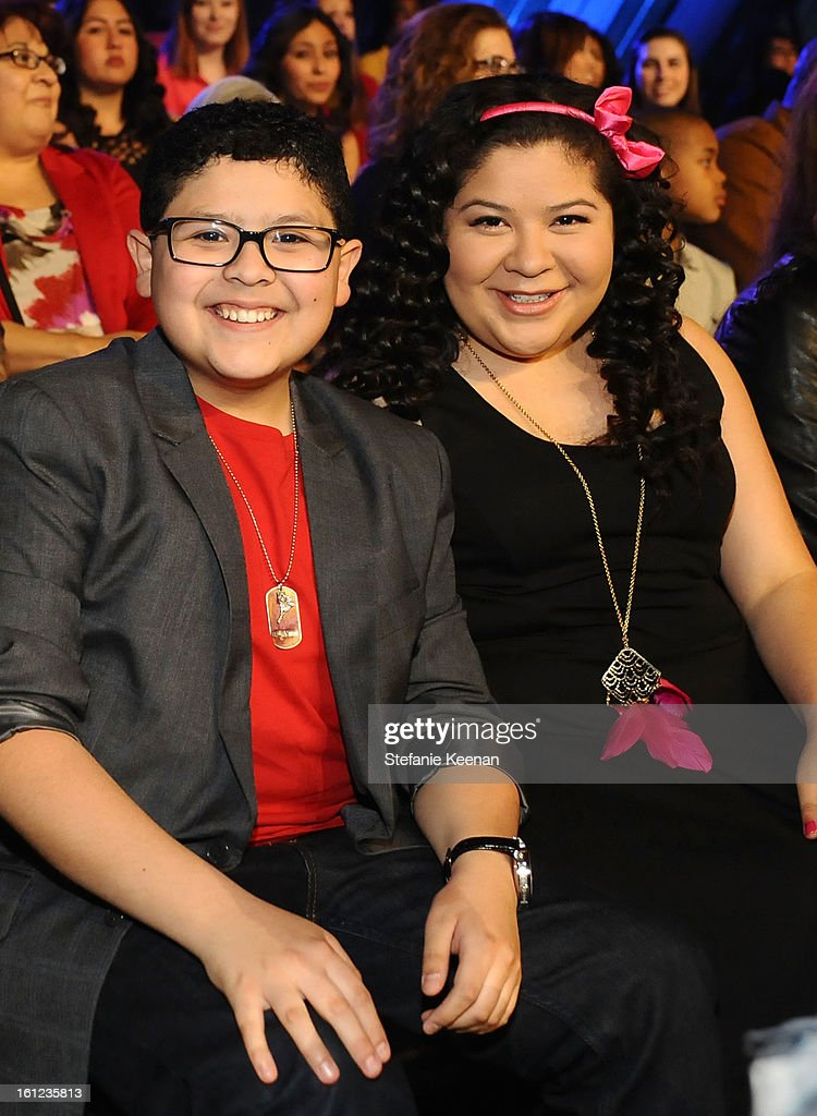 Actors Rico Rodriguez and Raini Rodriguez attend the Third Annual Hall of Game Awards hosted by Cartoon Network at Barker Hangar on February 9, 2013 in Santa Monica, California. 23270_003_SK_0060.JPG