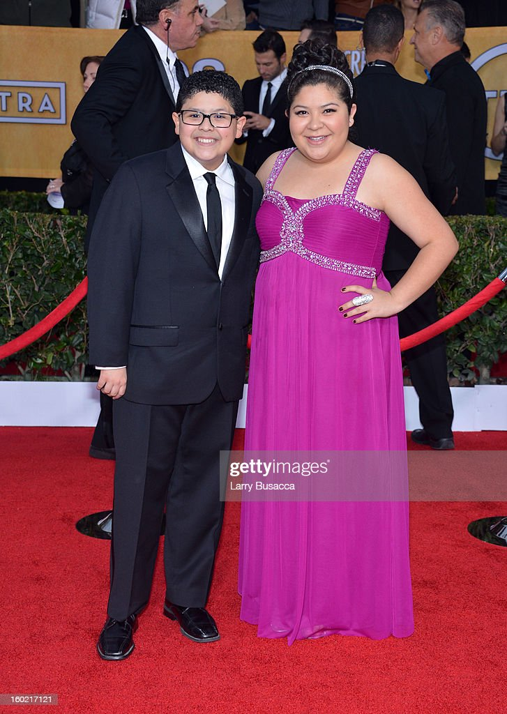 Actors Rico Rodriguez and Rico Rodriguez attend the 19th Annual Screen Actors Guild Awards at The Shrine Auditorium on January 27, 2013 in Los Angeles, California. (Photo by Larry Busacca/WireImage) 23116_018_1393.JPG