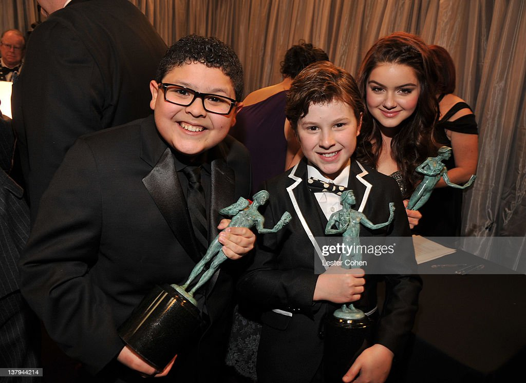 Actors Rico Rodriguez, Nolan Gould and Ariel Winter attend The 18th Annual Screen Actors Guild Awards broadcast on TNT/TBS at The Shrine Auditorium on January 29, 2012 in Los Angeles, California. (Photo by Lester Cohen/WireImage) 22005_008_LC_0315.JPG