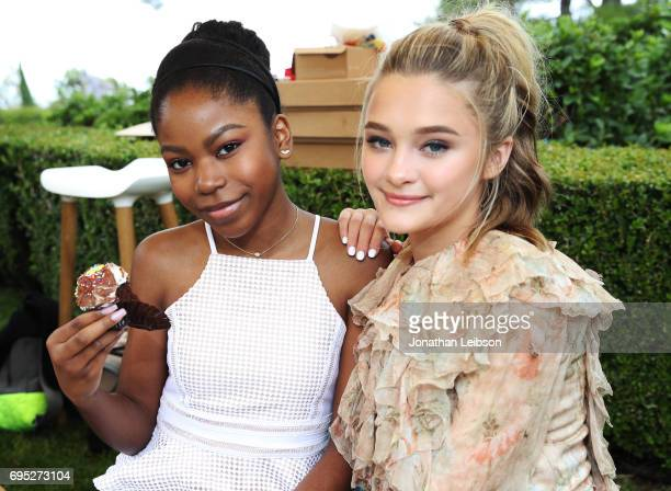 Actors Riele Downs and Lizzy Greene attend Children Mending Hearts' 9th Annual Empathy Rocks on June 11 2017 in Bel Air California