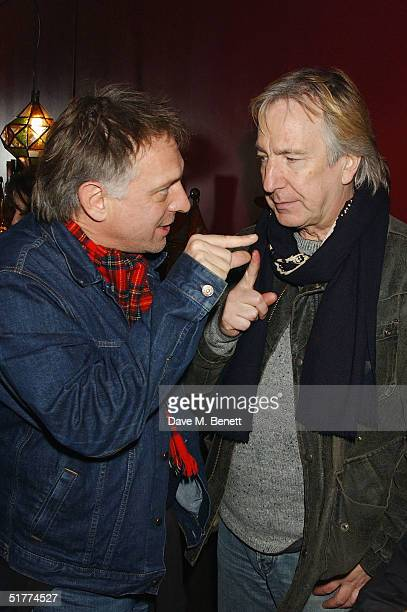Actors Rik Mayall and Alan Rickman attend the screening of 'Churchill The Hollywood Years' at the new Soho Hotel on November 21 2004 in London