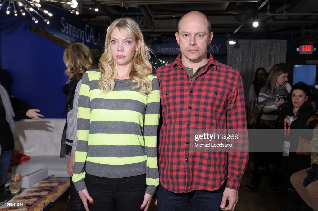 Actors <a gi-track='captionPersonalityLinkClicked' href=/galleries/search?phrase=Riki+Lindhome&family=editorial&specificpeople=2649294 ng-click='$event.stopPropagation()'>Riki Lindhome</a> and <a gi-track='captionPersonalityLinkClicked' href=/galleries/search?phrase=Rob+Corddry&family=editorial&specificpeople=583934 ng-click='$event.stopPropagation()'>Rob Corddry</a> attend Day 4 of Samsung at Village At The Lift 2013 on January 21, 2013 in Park City, Utah.