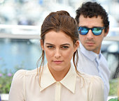 Actors Riley Keough and Shia LaBeouf attends the 'American Honey' Photocall at the annual 69th Cannes Film Festival at Palais des Festivals on May 15...