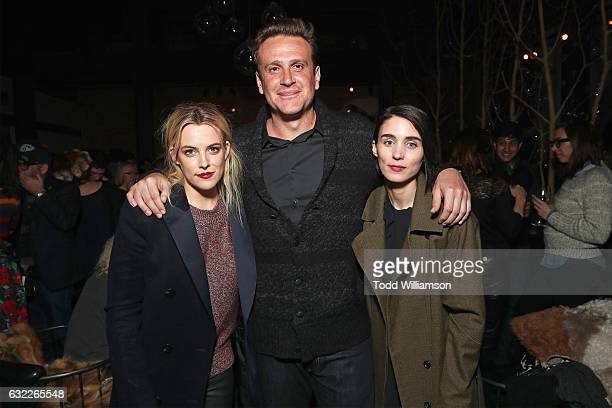 Actors Riley Keough Jason Segel and Rooney Mara attend as Netflix celebrates Original Film 'The Discovery' at Sundance 2017 on January 20 2017 in...
