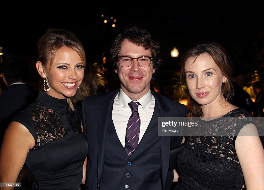 Actors Riley Voelkel, John Gallagher Jr. and Wynn Everett attend the after party for HBO's 'The Newsroom' season 2 premiere at Paramount Studios on July 10, 2013 in Hollywood, California.