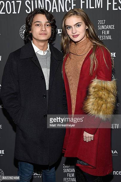 Actors Rio Mangini and Brighton Sharbino attend the 'Bitch' Premiere on day 2 of the 2017 Sundance Film Festival at Library Center Theater on January...